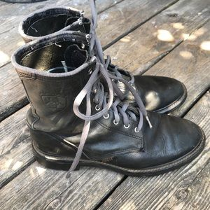 Ariat black combat military boots men's size 9.5